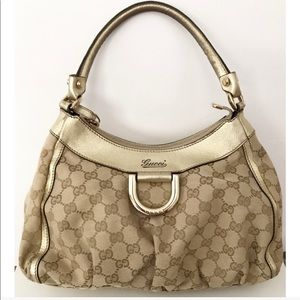 💯Authentic Gucci Abbey Monogram Canvas Bag